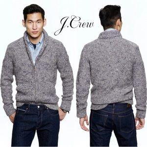 J. Crew Alpaca Wool Blend Full-Zip Shawl Sweater M